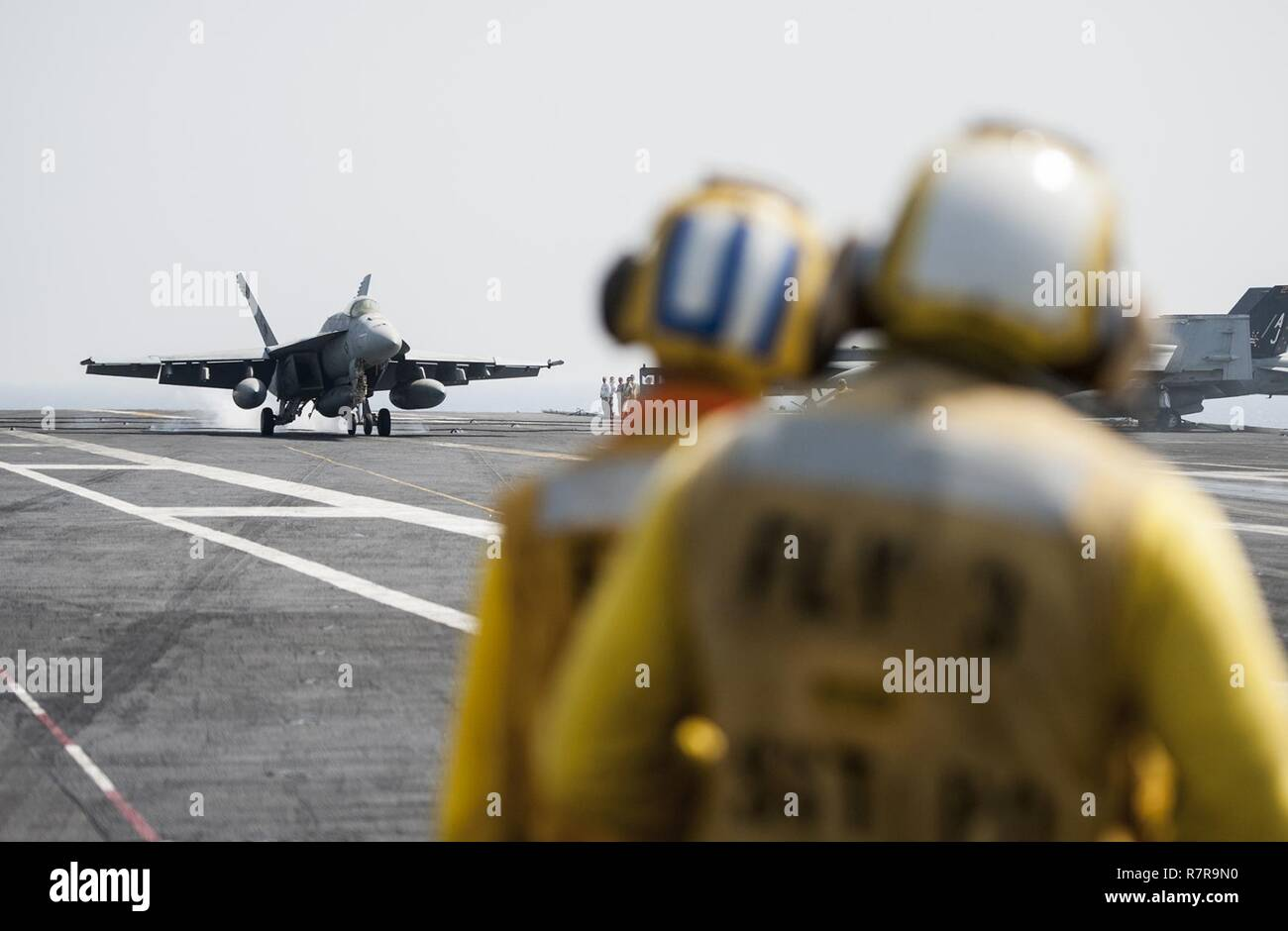 ARABIAN GULF (March 27, 2017) An F/A-18E Super Hornet attached to