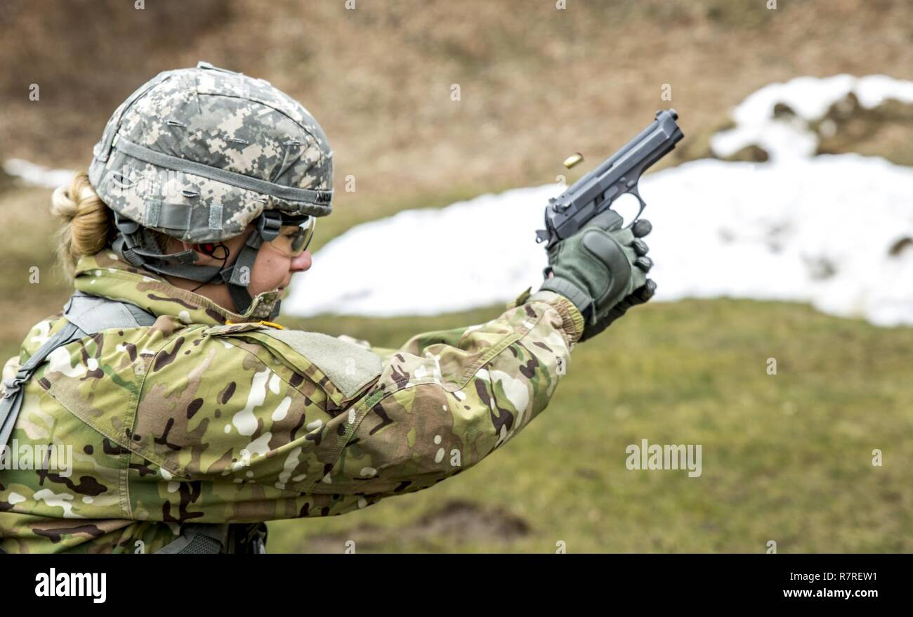 U S  Army Spc  Courtney Natal qualifies for the German Armed Forces
