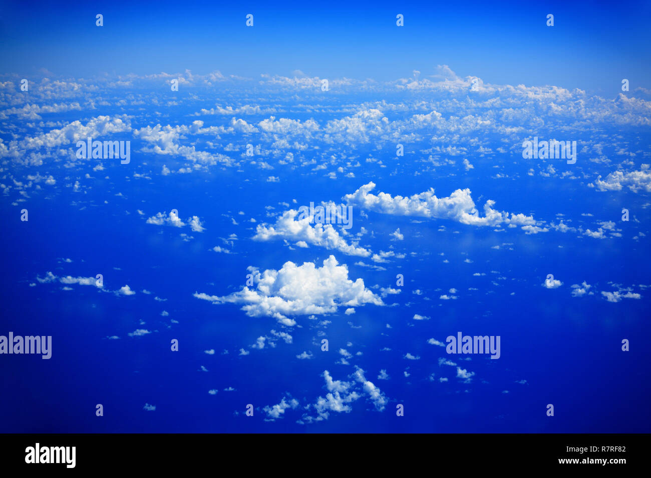 Clouds over Indian Ocean, Republic of Seychelles. - Stock Image