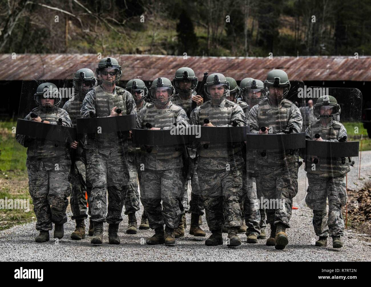 130th Airlift Wing Security Forces Squadron members form a