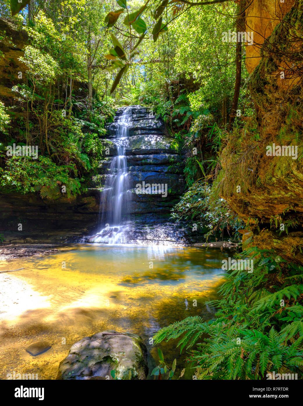Gordon Falls in Leura, Blue Mountains National Park, NSW, Australia Stock Photo
