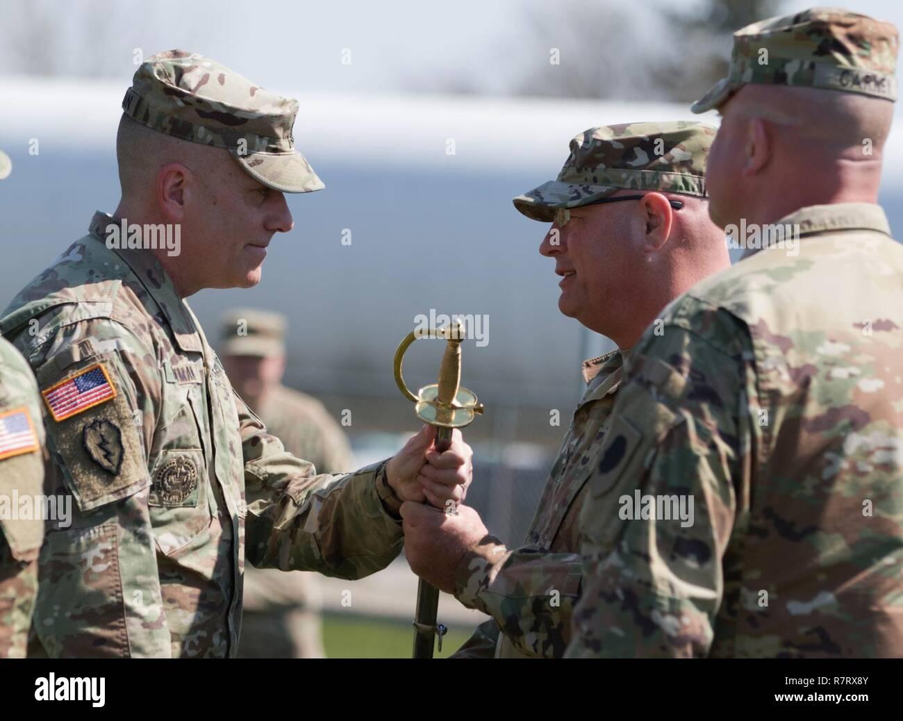 Command Sgt  Maj  Mark W  Bowman of Plainfield, Illinois