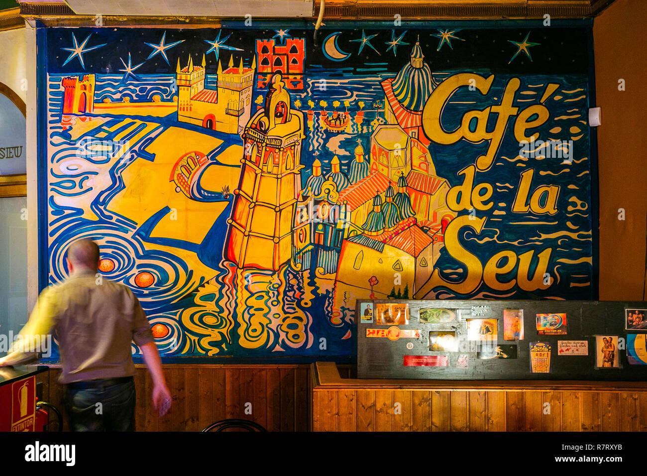 Cafe de la SEu. Old Town.  Valencia. Comunidad Valenciana. Spain - Stock Image