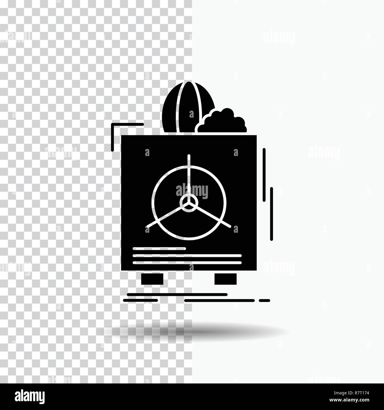 insurance, Fragile, product, warranty, health Glyph Icon on Transparent Background. Black Icon - Stock Vector