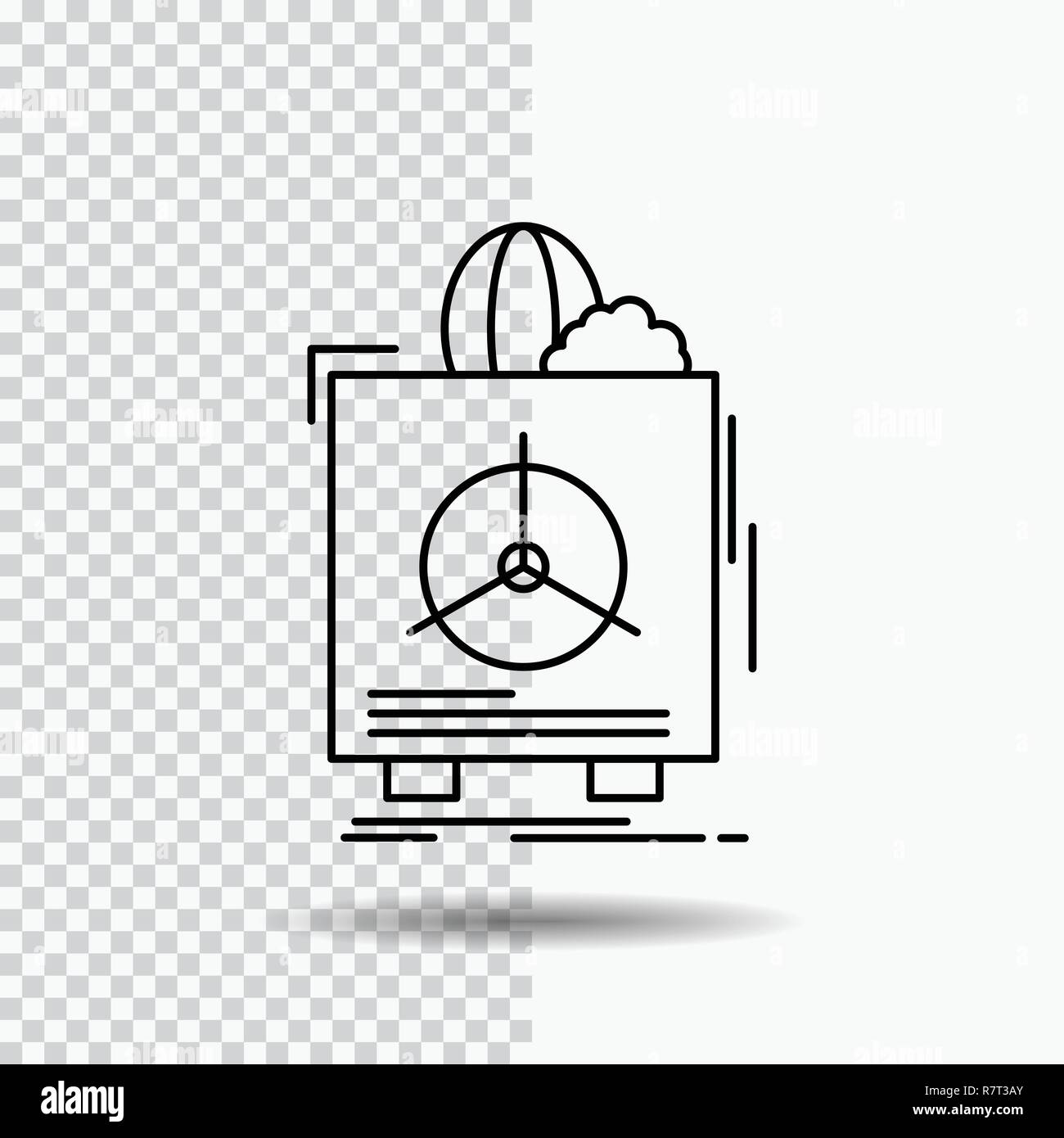 insurance, Fragile, product, warranty, health Line Icon on Transparent Background. Black Icon Vector Illustration - Stock Vector