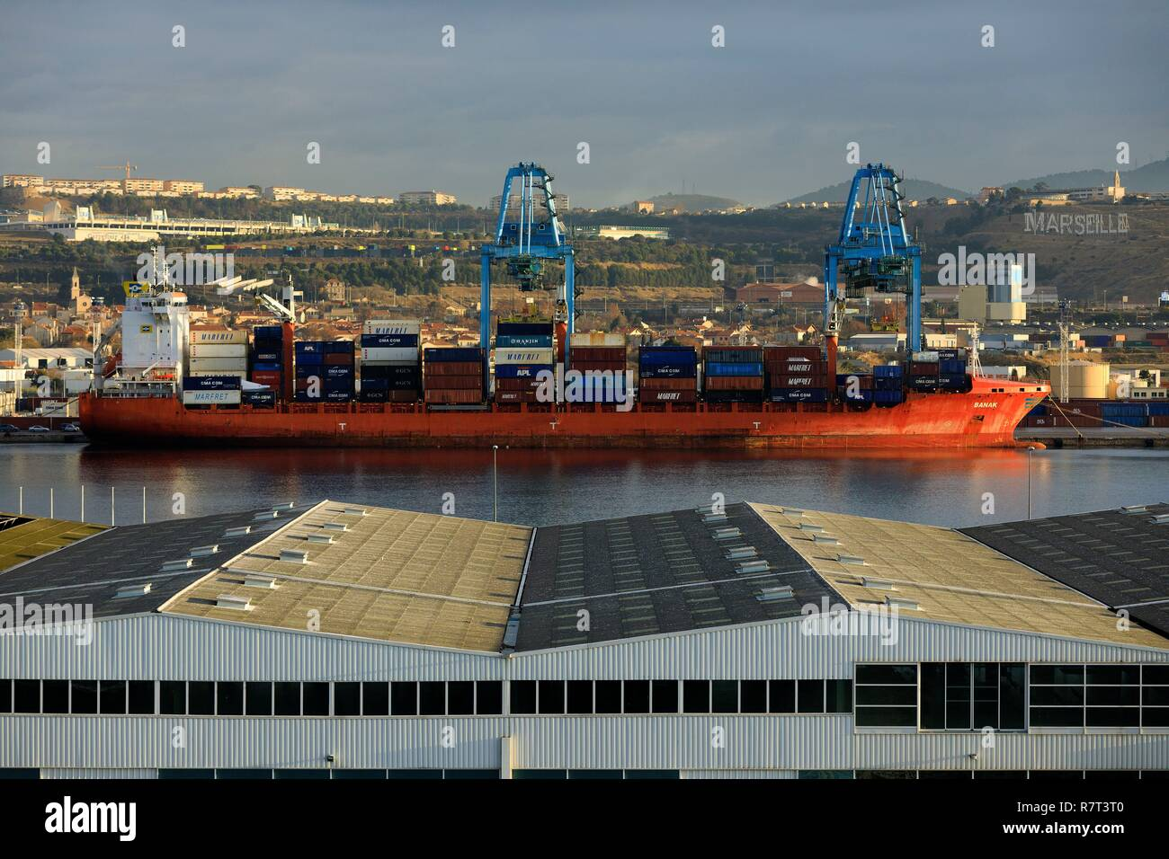 Delightful France, Bouches Du Rhone, Marseille, Marseilleu0027s Grand Port Maritime, 16th  Arrondissement, Saint Andre District, Mole Leon Gourret, Container Terminal  And ...