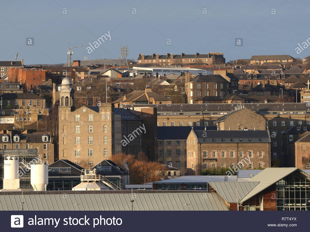 Distant view of Hotel Indigo Dundee Scotland  December 2018 Stock Photo