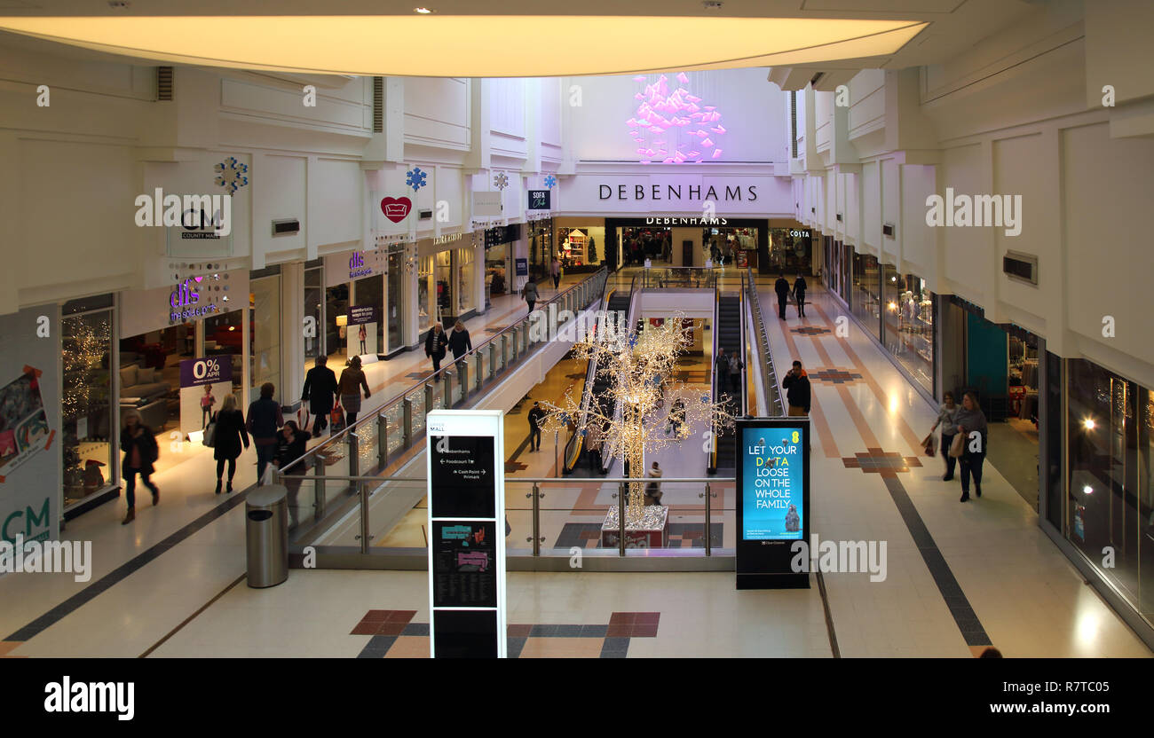 the county mall shopping centre in crawley west sussex - Stock Image