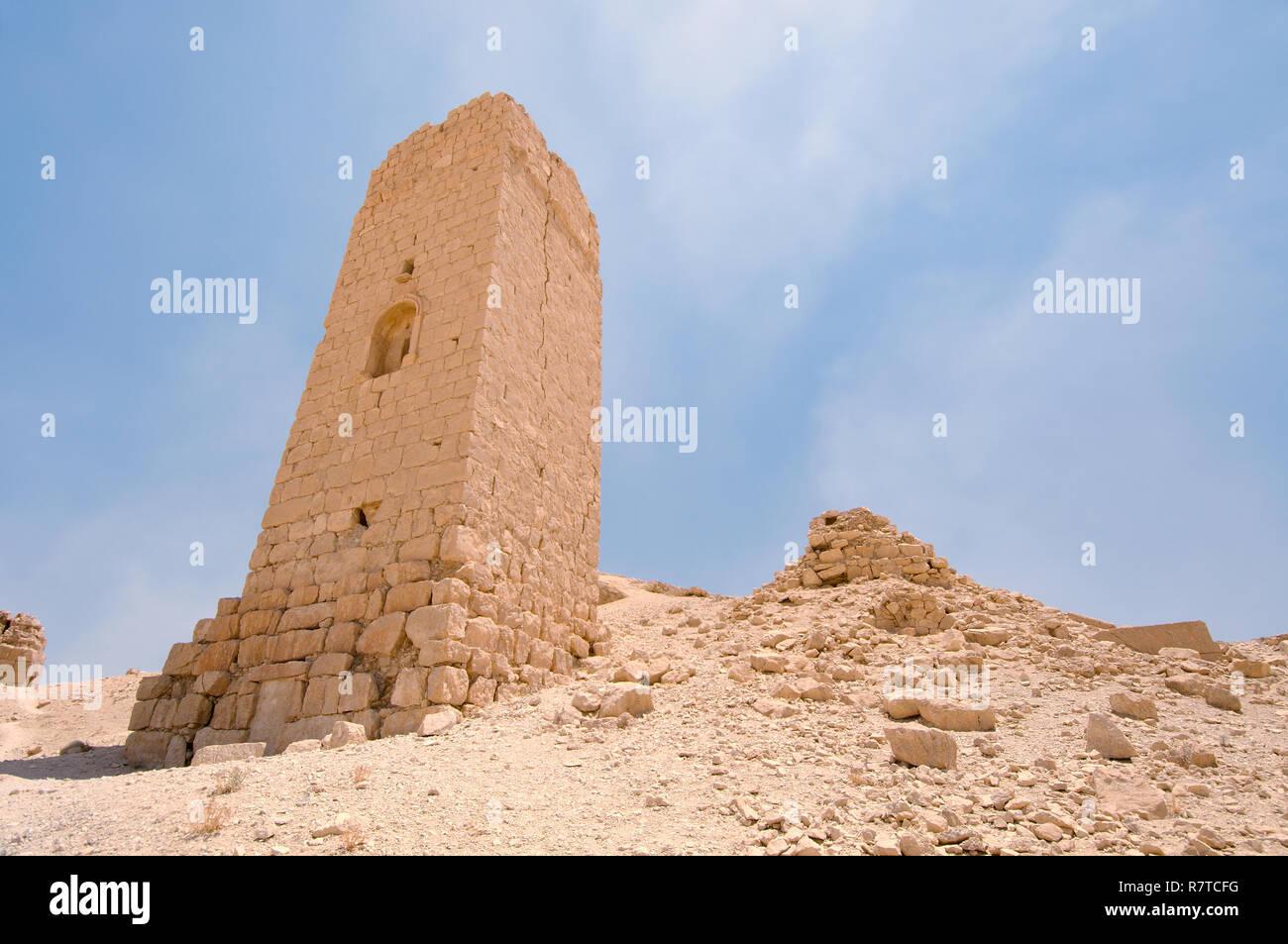 Tower tomb, Palmyra, Tadmur, Palmyra District, Homs Governorate, Syria - Stock Image