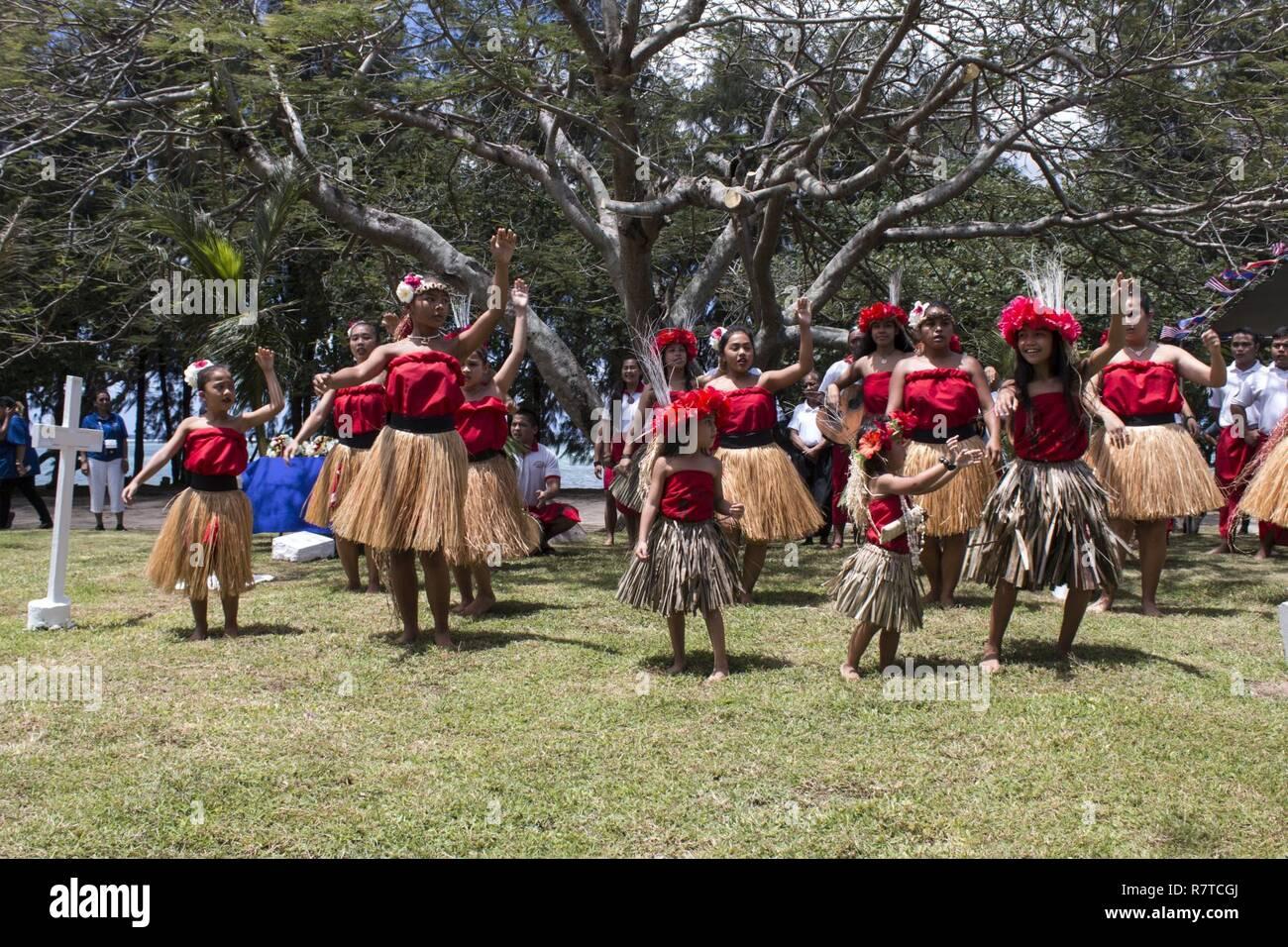 HAGÅTÑA, Guam (April 7, 2017) -- A local Chamorro dance