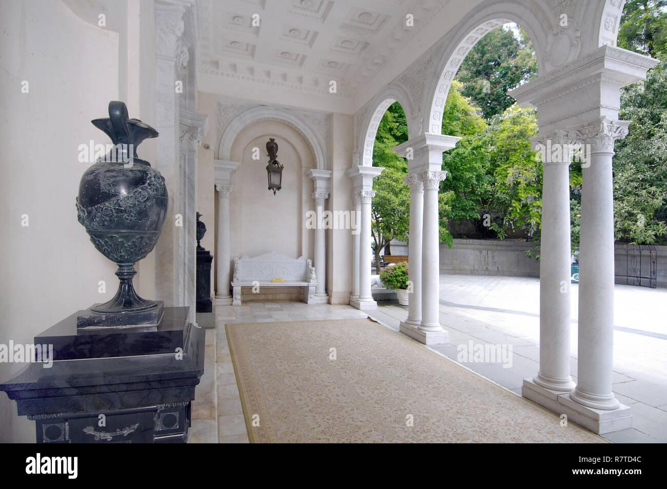 Entrance of Livadia Palace, Livadiya, Yalta, Crimea, Ukraine - Stock Image