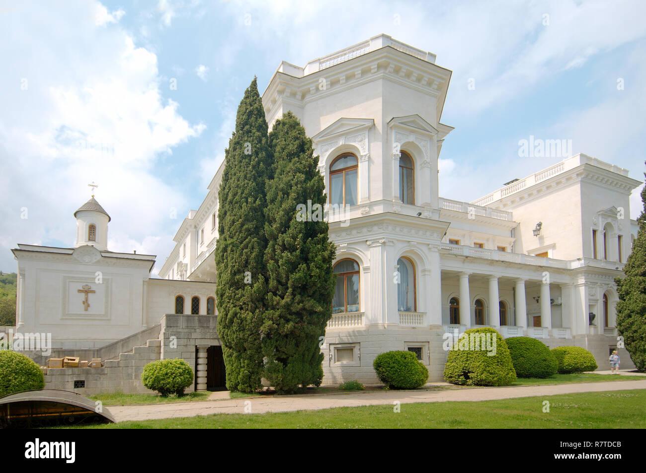 Livadia Palace, Livadiya, Yalta, Crimea, Ukraine - Stock Image