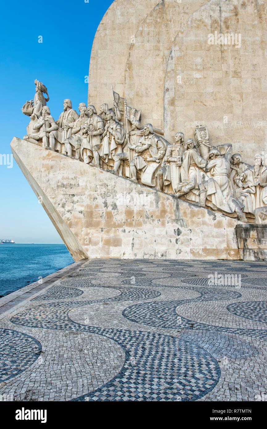 Monument to the Discoveries or Padrão dos Descobrimentos, Belem district, Lisbon, Portugal - Stock Image