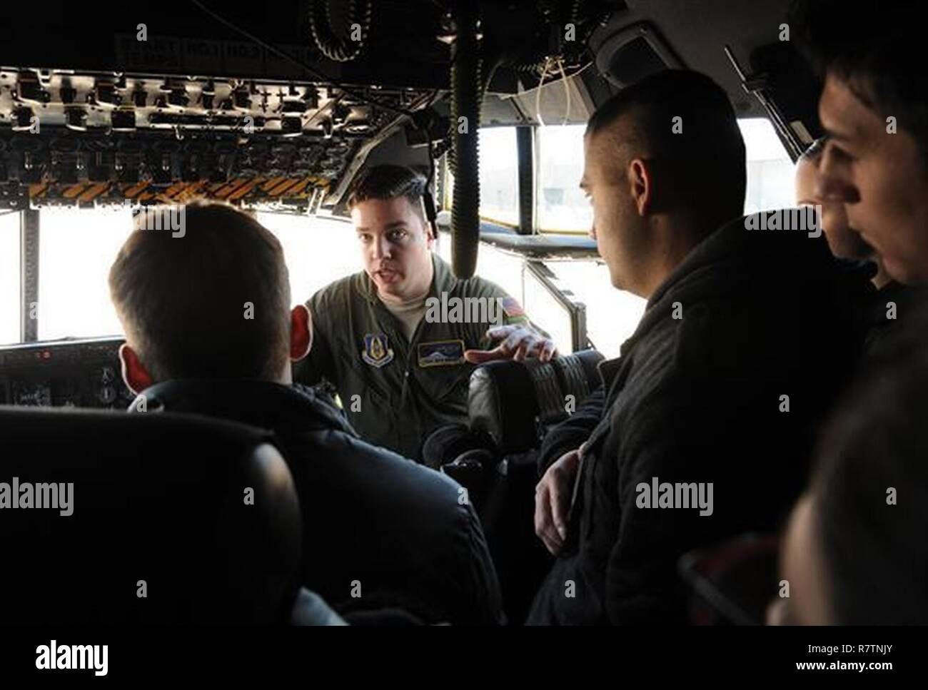 Tech  Sgt  Nicholas Brandt, C-130 Hercules loadmaster assigned to