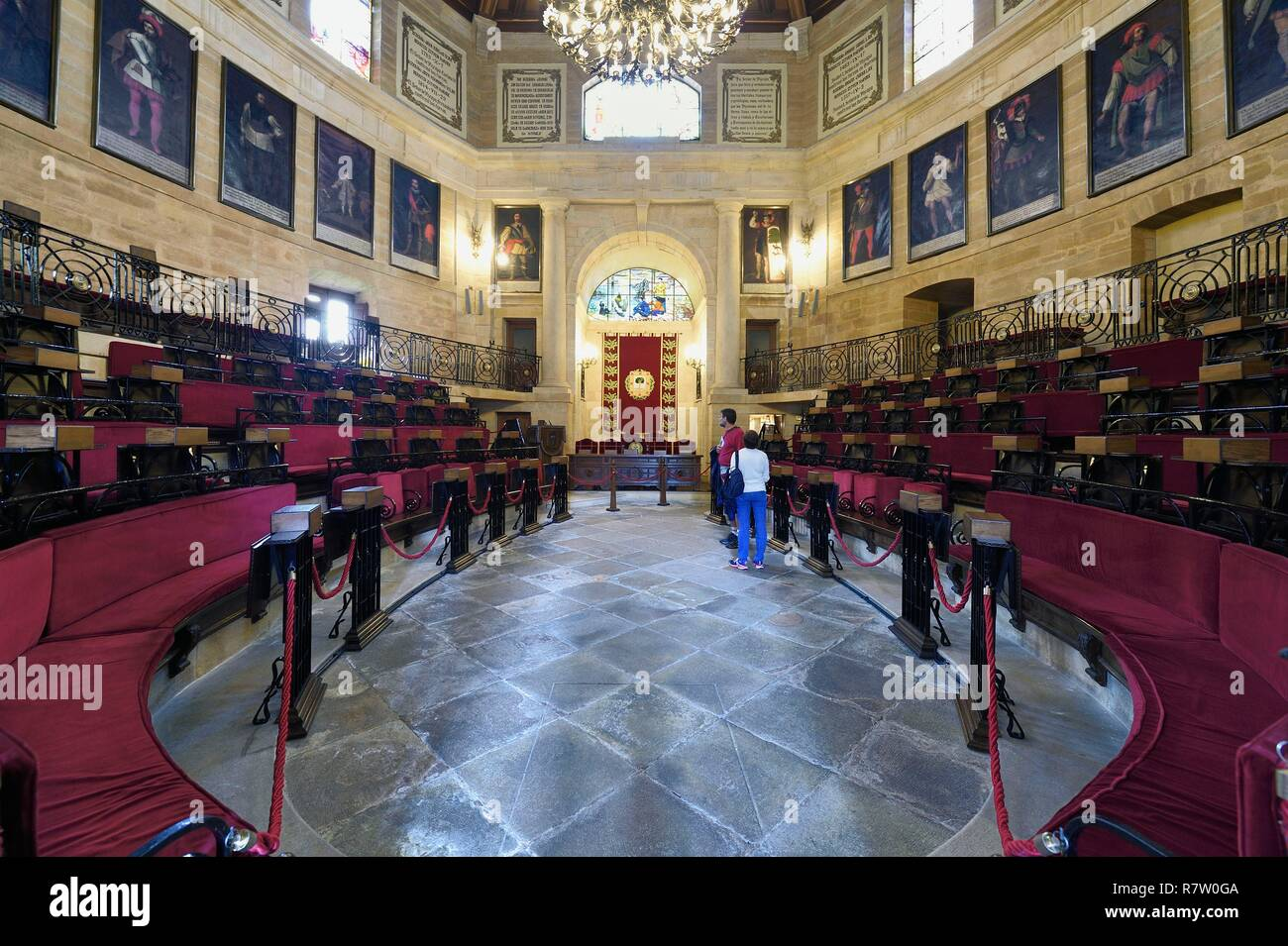 Spain, Basque Country, Biscay Province, Gernika-Lumo, House of Assemblies (Casa de Juntas), the parlement - Stock Image