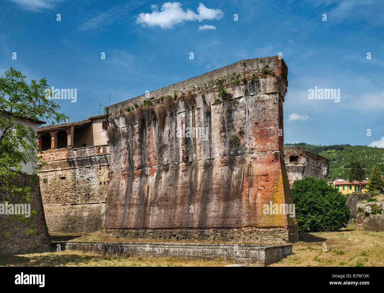 Bastion at fortress, built by Medici family, in Sansepolcro, Tuscany, Italy - Stock Image