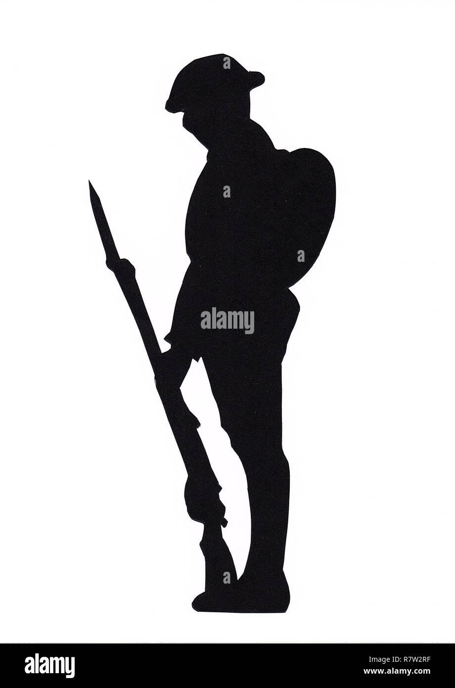 British Soldier And Silhouette Stock Photos & British ...