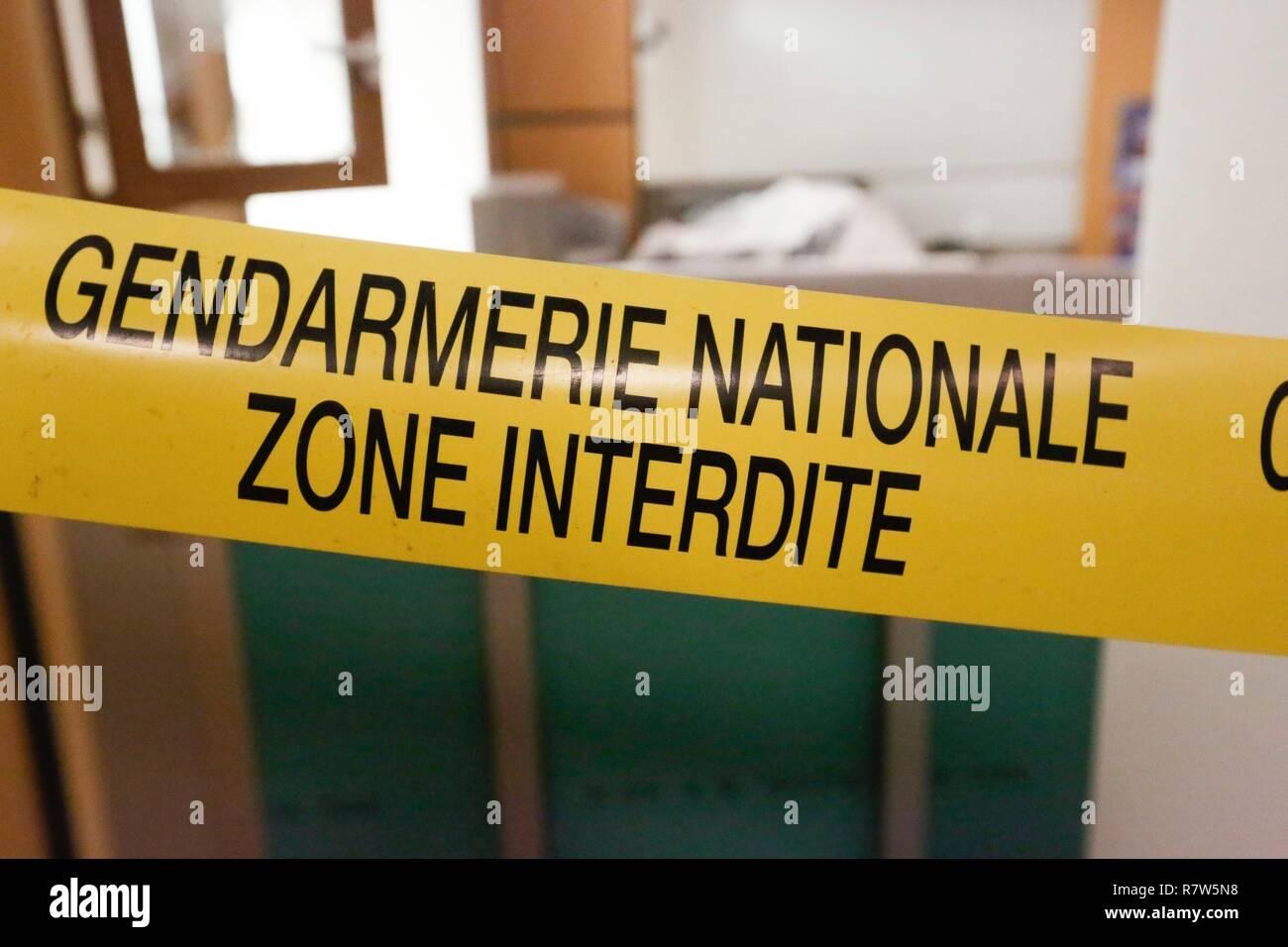 France, Val d'Oise, Pontoise, Criminal Investigation Institute of the National Gendarmerie - Stock Image
