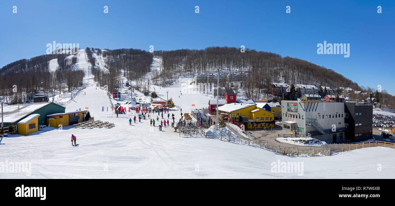 panorama ski resort canada stock photos & panorama ski resort canada