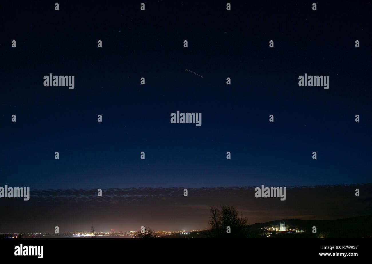 ISS Pass (Santa's Sleigh) - Stock Image