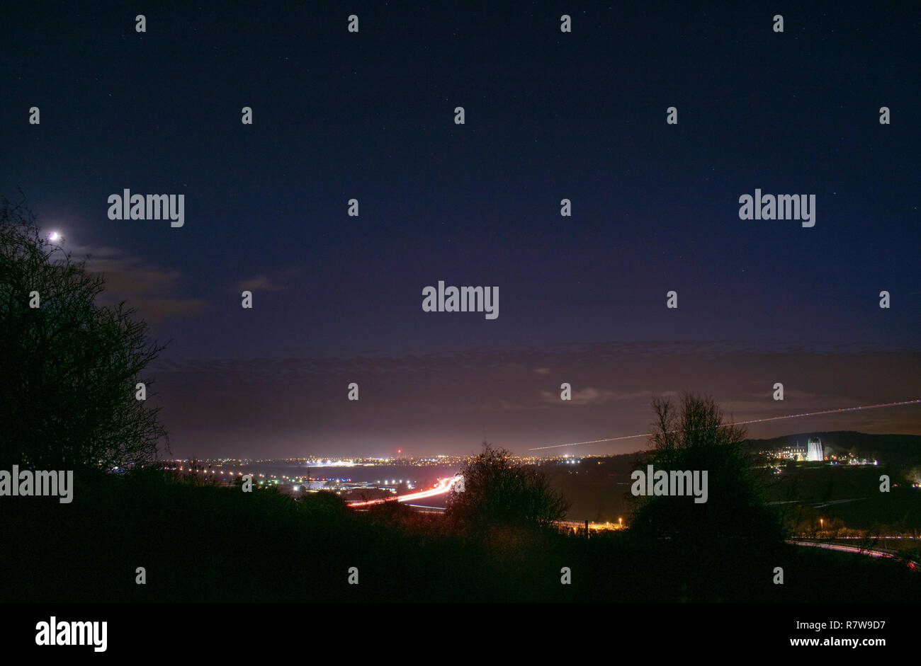 A27 Nightscape - Stock Image
