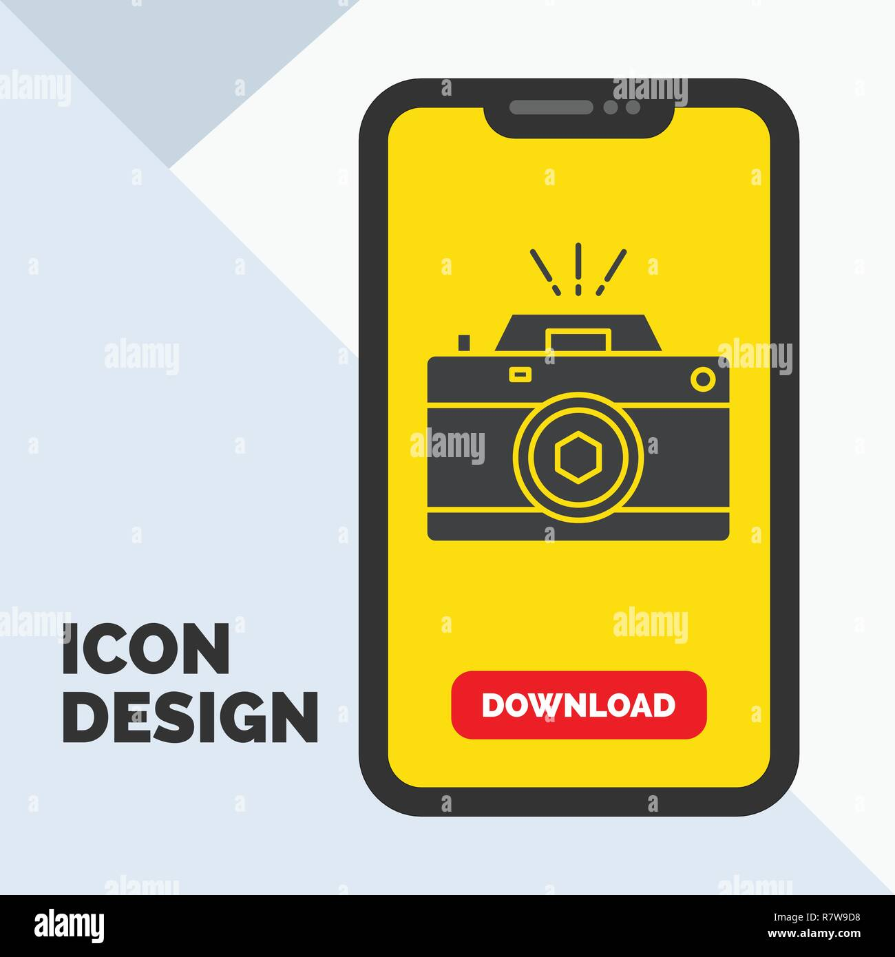 Camera, photography, capture, photo, aperture Glyph Icon in