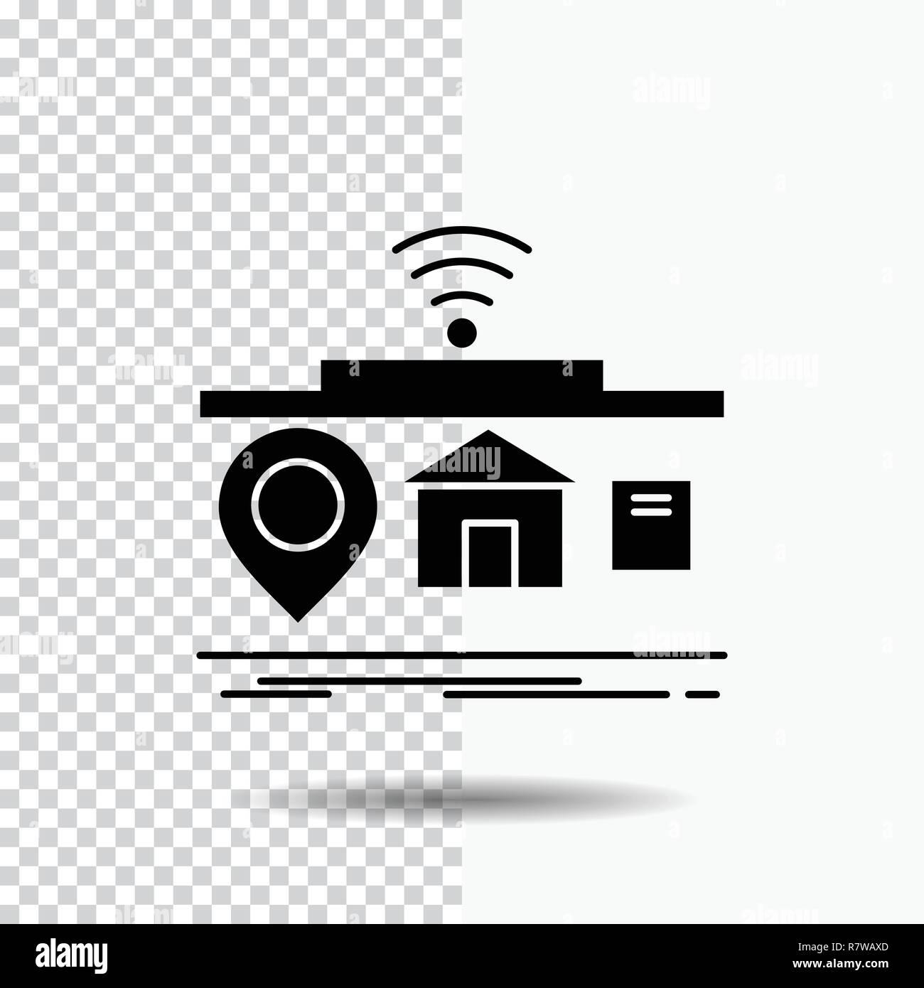 Iot Gadgets Internet Of Things Glyph Icon On Transparent Background Black Icon Stock Vector Image Art Alamy