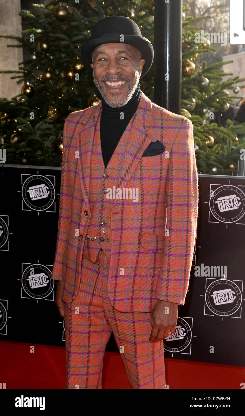Photo Must Be Credited ©Alpha Press 078237 11/12/2018 Danny John Jules at the TRIC Christmas Luncheon 2018 held at The Grosvenor House Hotel in London - Stock Image