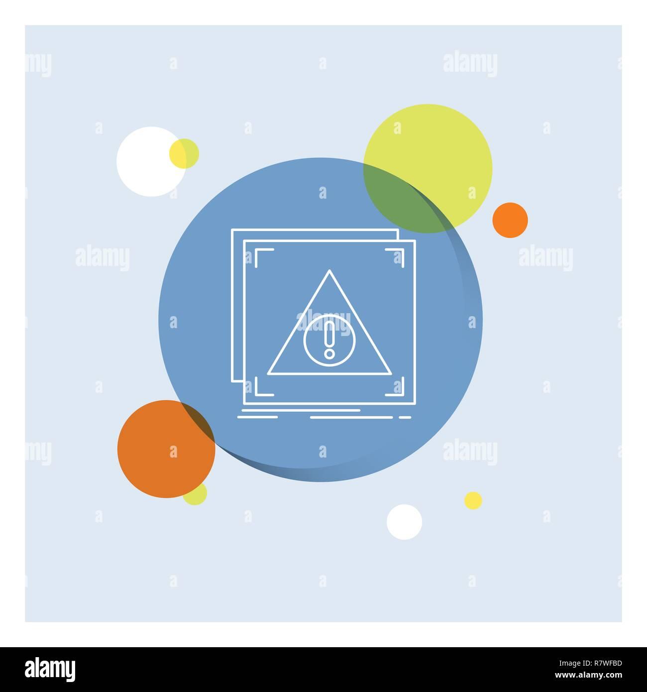 Error, Application, Denied, server, alert White Line Icon colorful Circle Background - Stock Image
