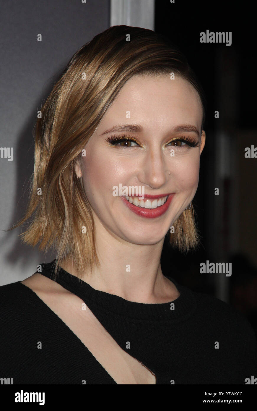 Taissa Farmiga  12/10/2018 The World Premiere of 'The Mule' held at the Regency Village Theatre in Los Angeles, CA  Photo: Cronos/Hollywood News - Stock Image
