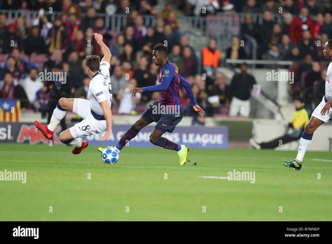 Barcelona Spain 11th Dec 2018 December 10 2018 Barcelona