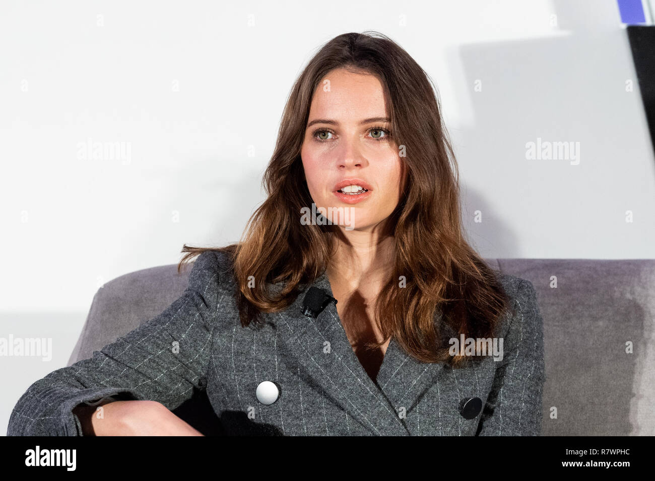 Washington, DC, USA. 11th Dec 2018. Felicity Jones, actress, at Politico's 6th Annual Women Rule Summit in Washington, DC on December 11, 2018. Credit: Michael Brochstein/Alamy Live News Stock Photo