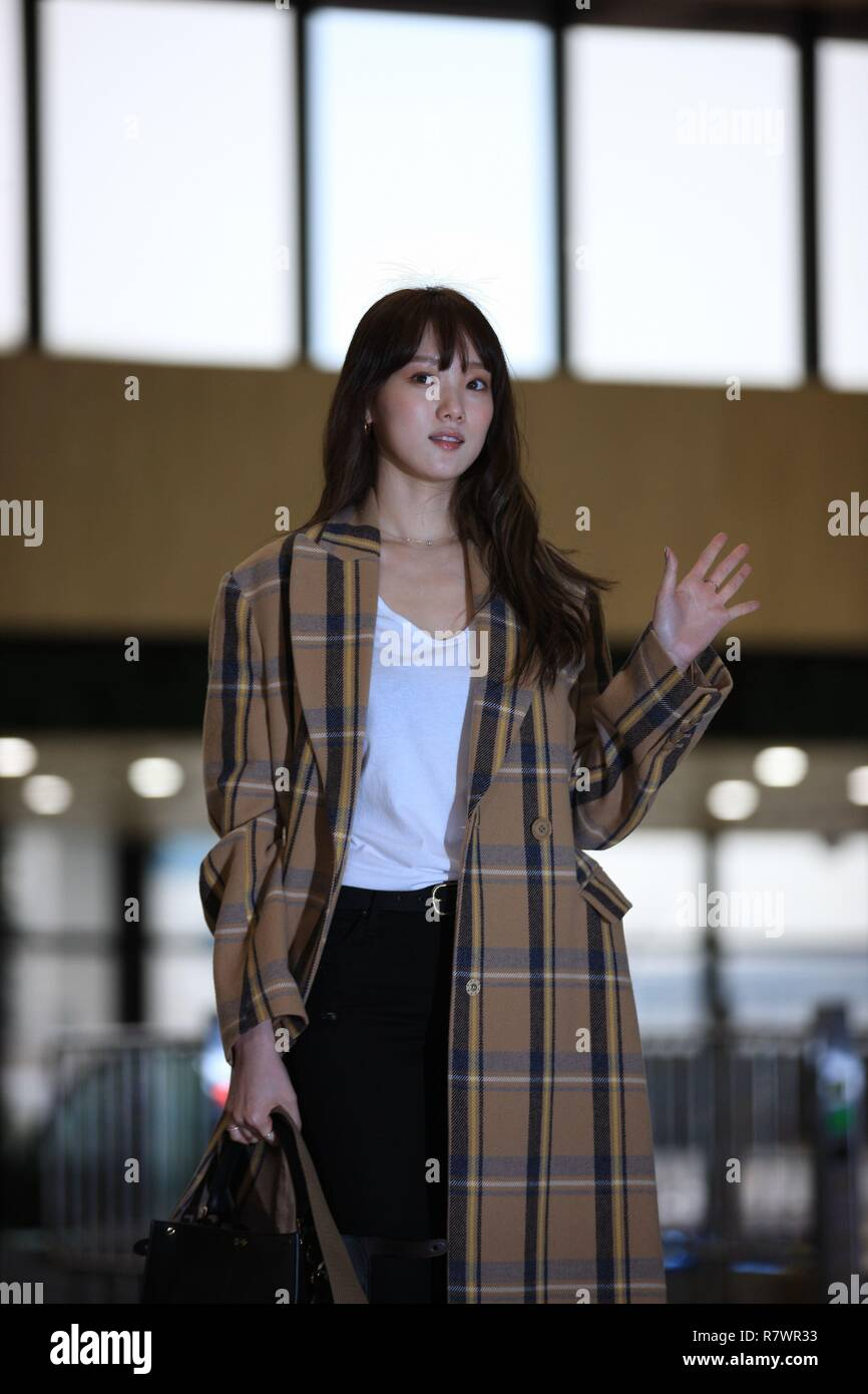 Seoul, Korea  11th Dec, 2018  Lee Sung Kyung flies to Japan