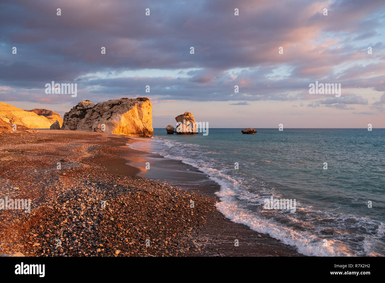 It Was Beautiful Afternoon For >> Beautiful Afternoon View Of The Beach Around Petra Tou Romiou In
