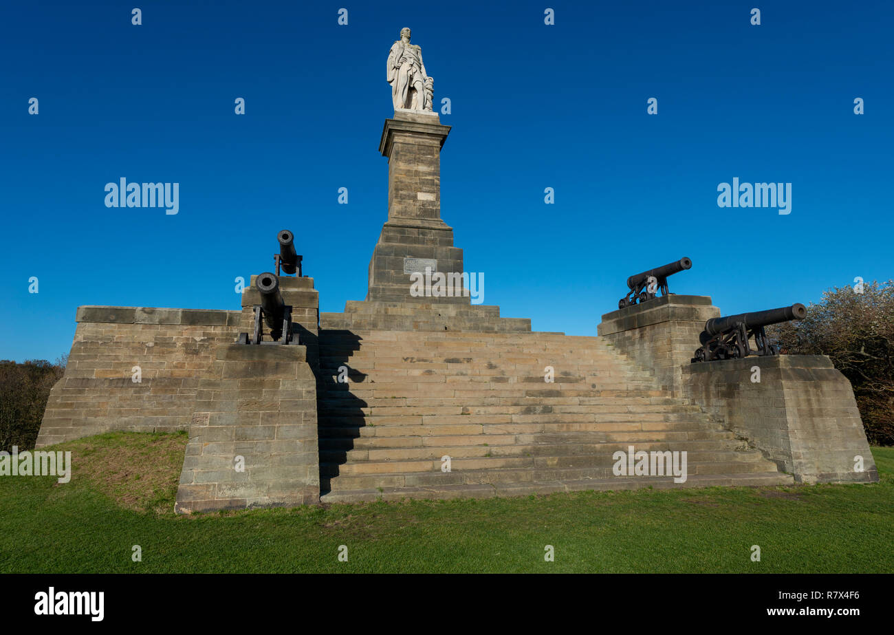 Lord Collingwood Monument, Tynemouth, UK Stock Photo