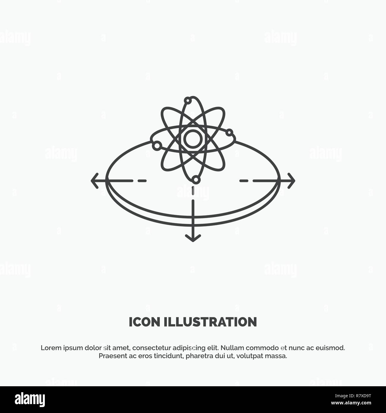 Business concept idea innovation light icon line vector gray symbol for