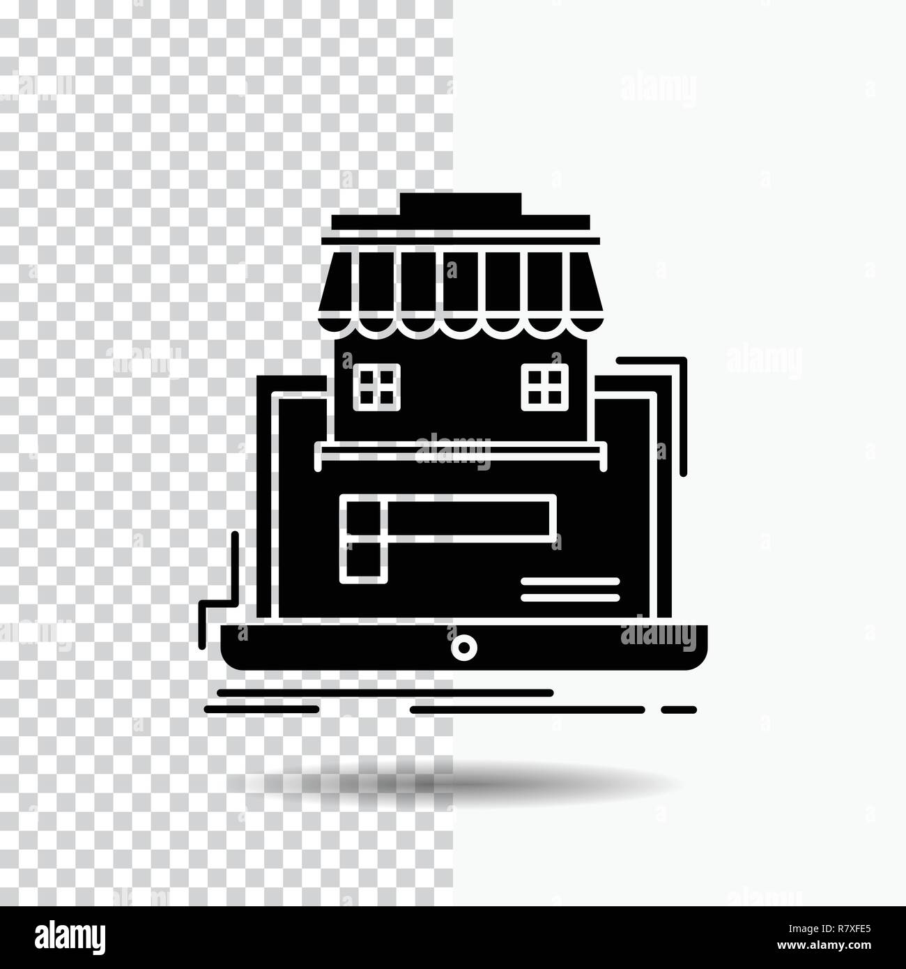 Business Marketplace Organization Data Online Market Glyph Icon On Transparent Background Black Icon Stock Vector Image Art Alamy