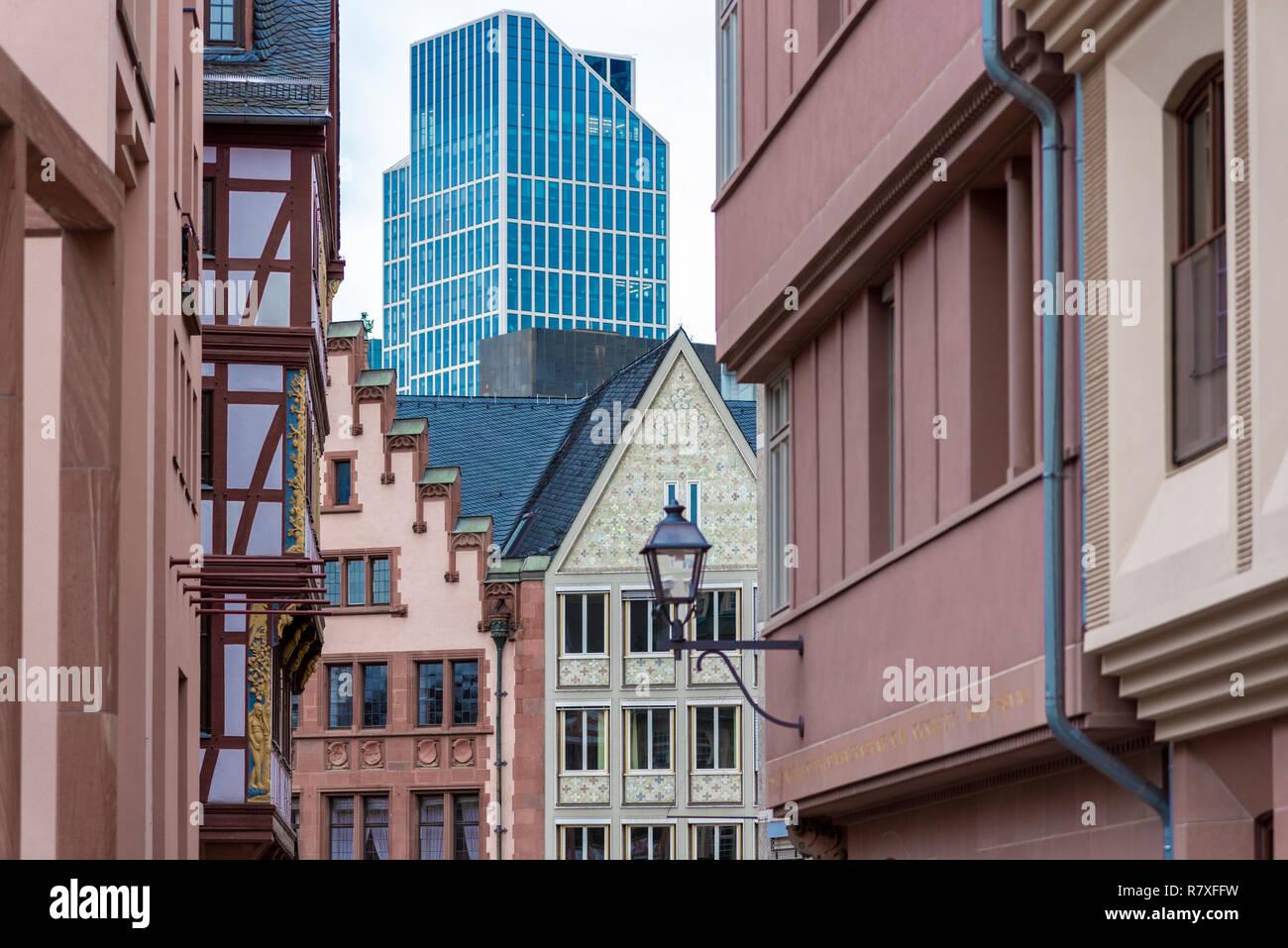 Die neue Altstadt in Frankfurt am Main - Stock Image