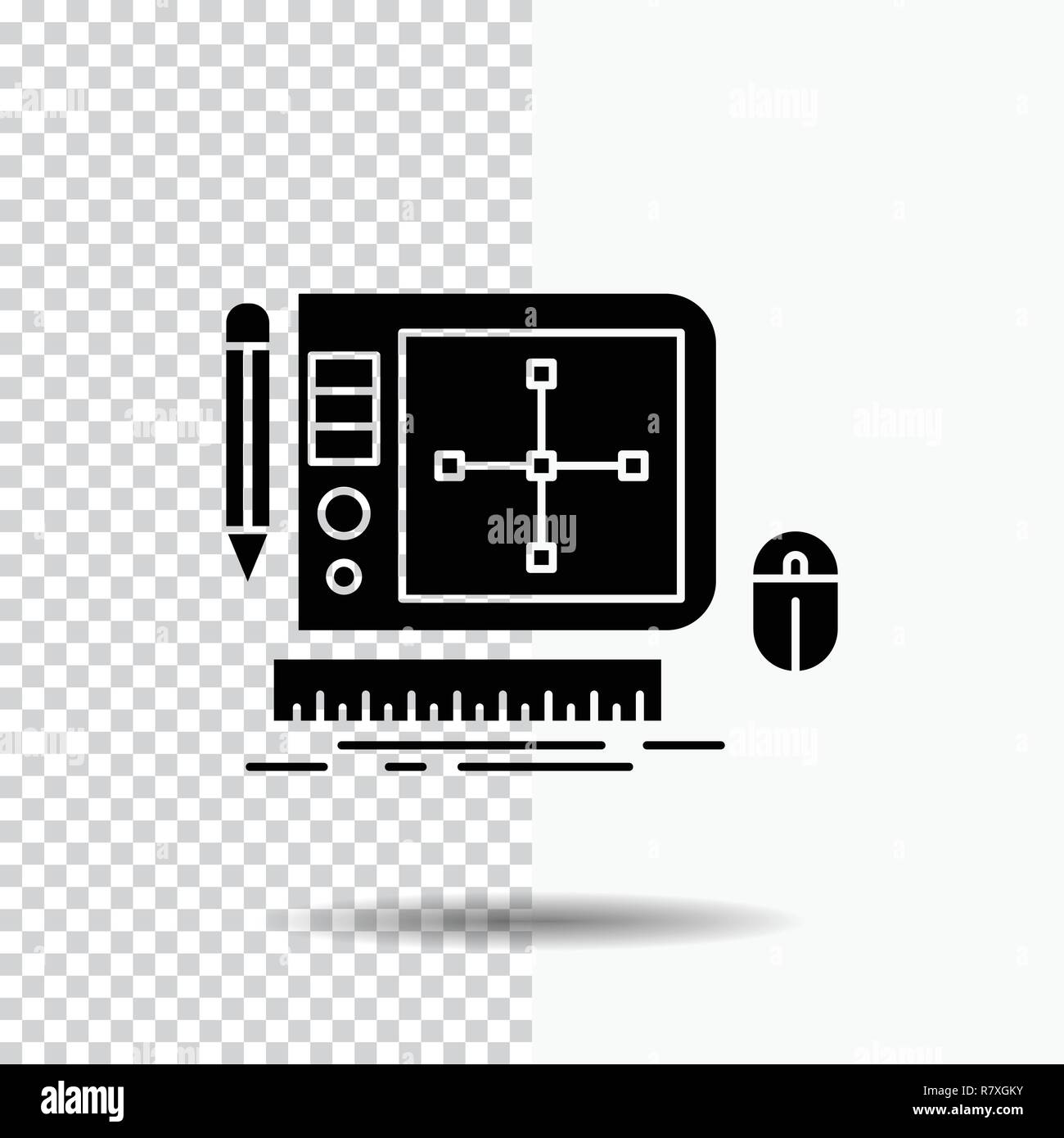 Design Graphic Tool Software Web Designing Glyph Icon On