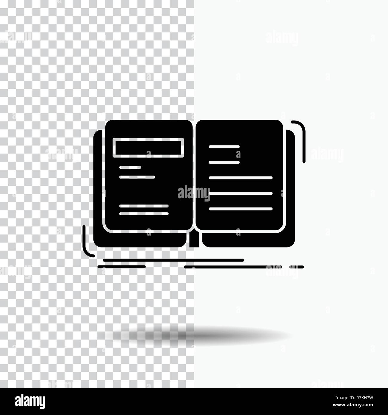 Author, book, open, story, storytelling Glyph Icon on