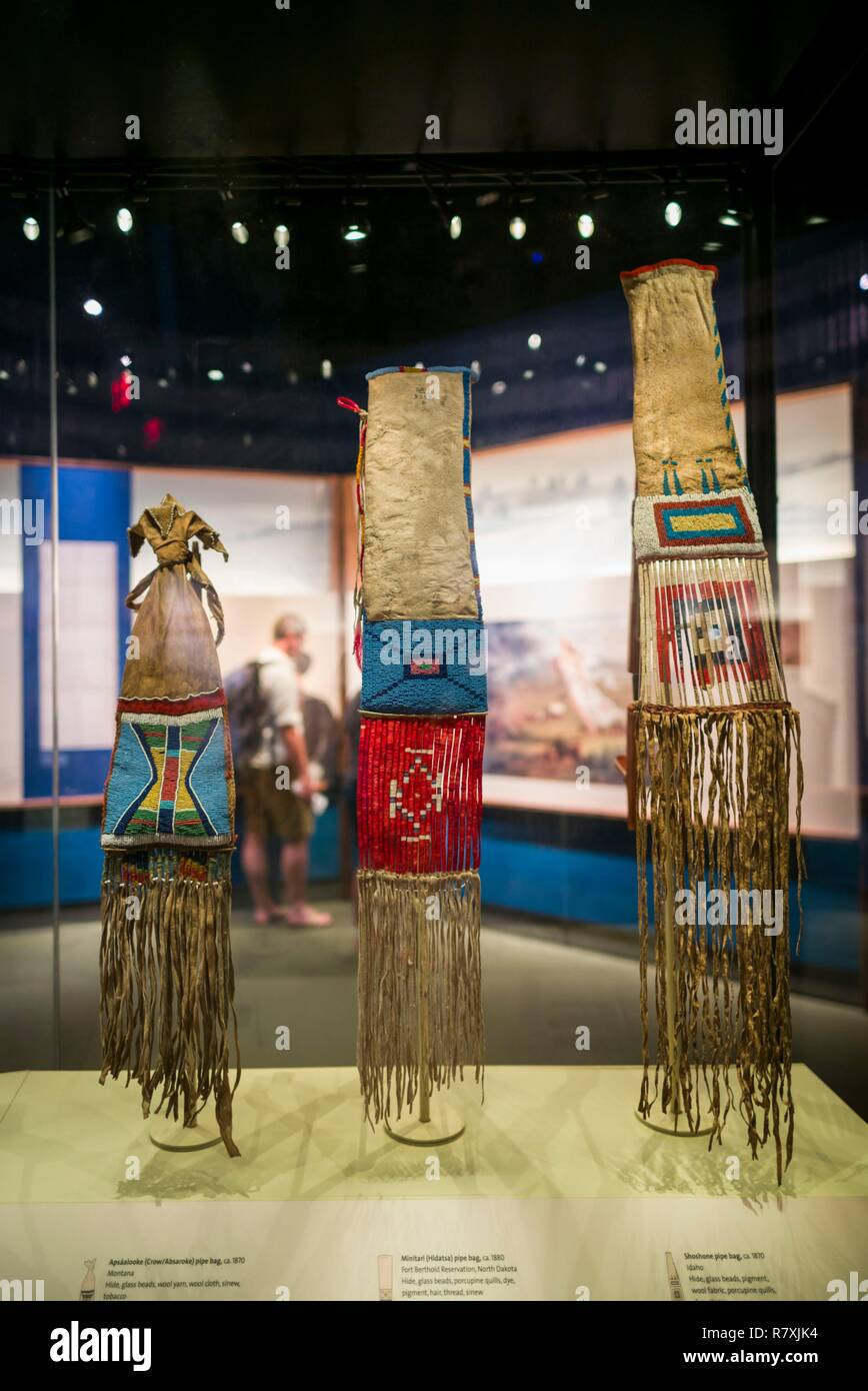 United States, District of Columbia, Washington, National Museum of the American Indian, interior exhibit - Stock Image
