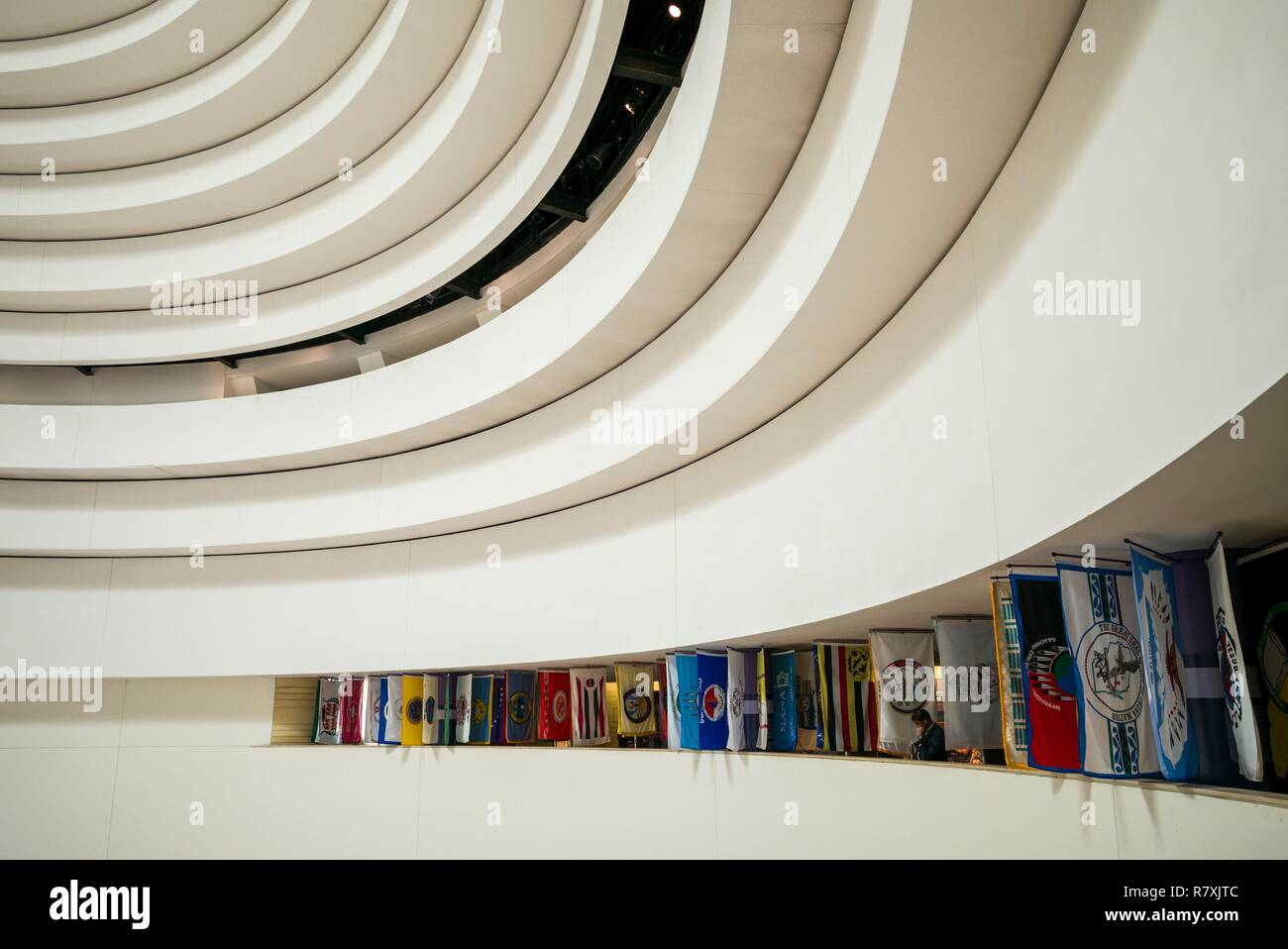 United States, District of Columbia, Washington, National Museum of the American Indian, ceiing - Stock Image