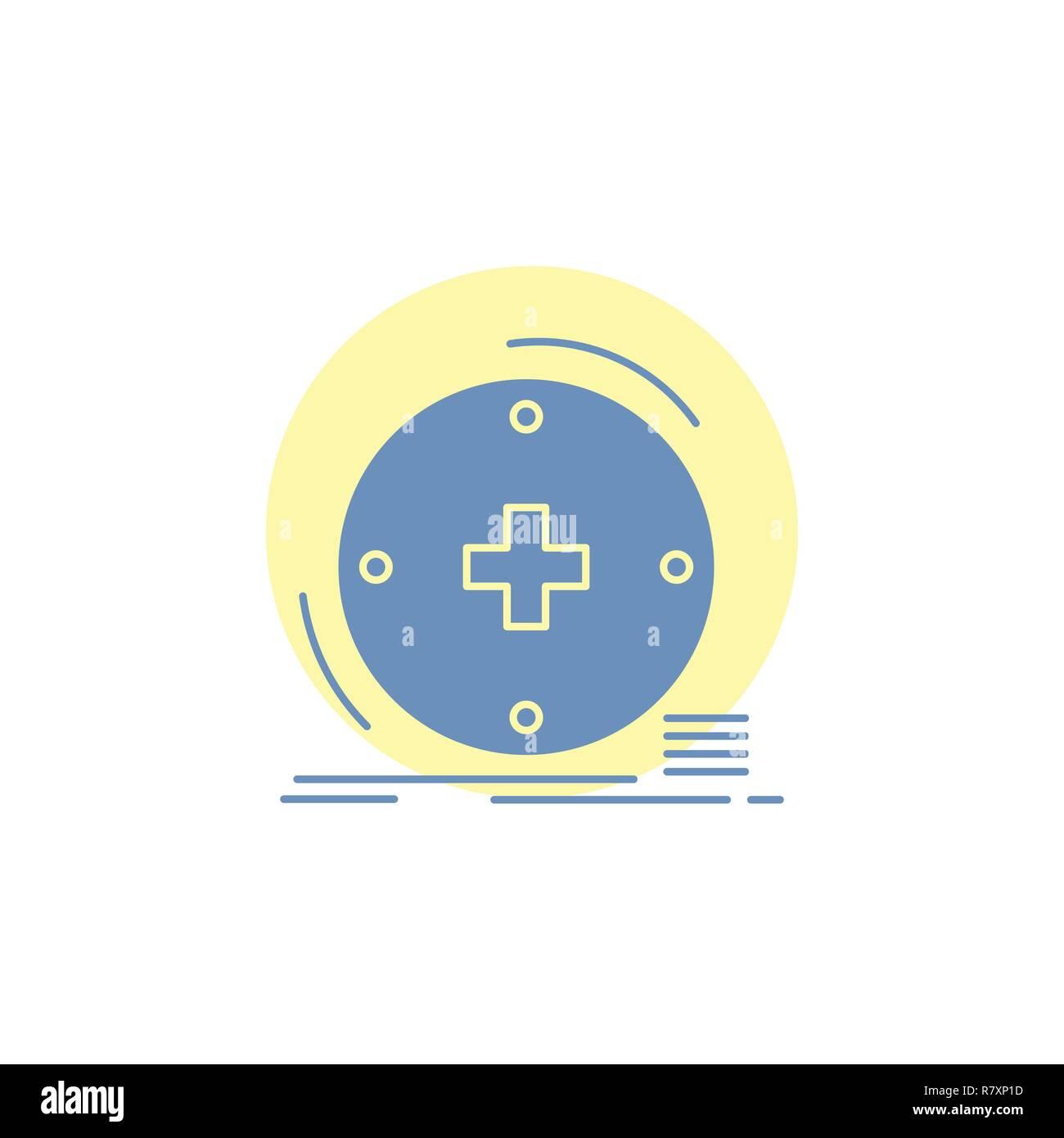 Clinical, digital, health, healthcare, telemedicine Glyph Icon. - Stock Image