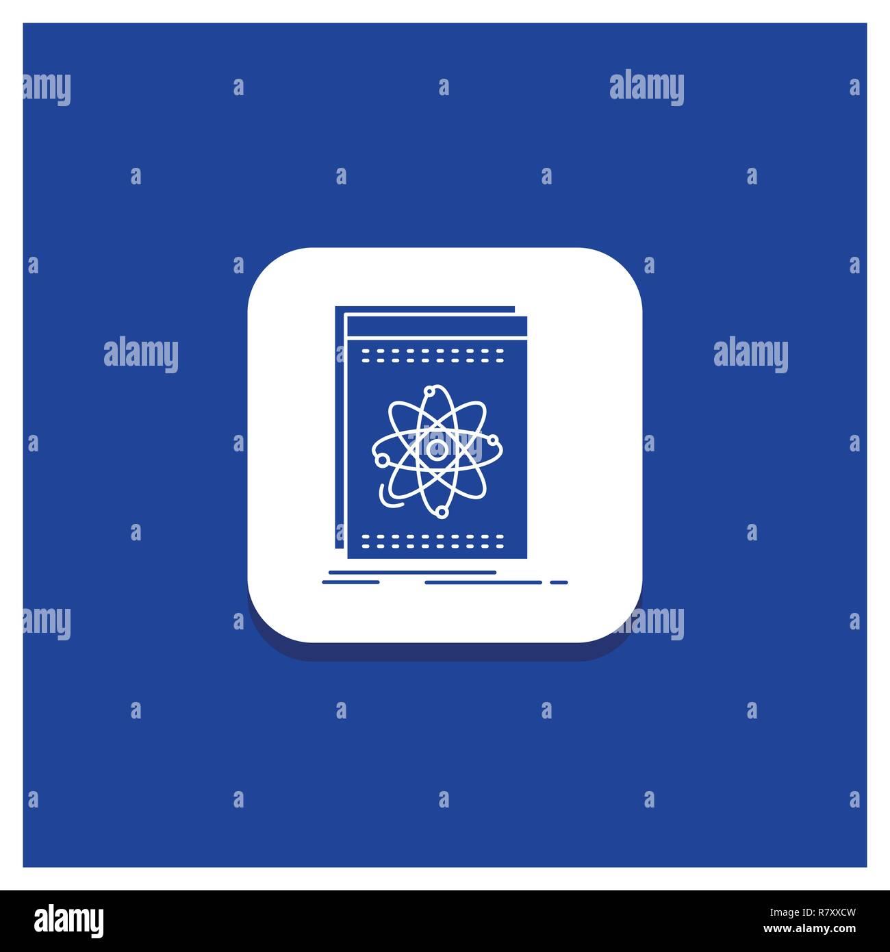 Blue Round Button for Api, application, developer, platform