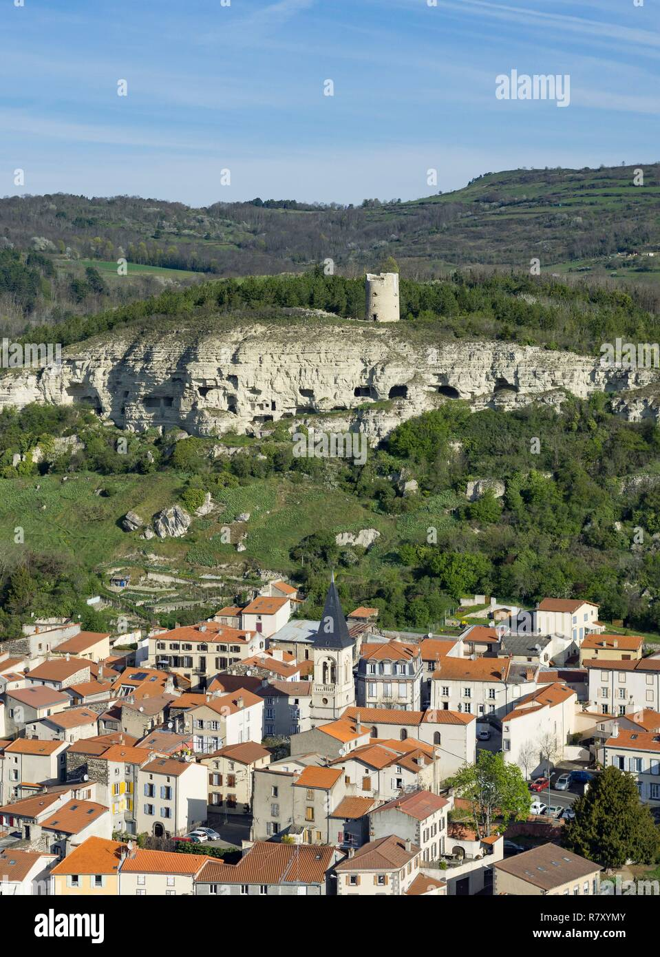 énorme réduction b7ae6 eccb2 France, Puy de Dome, La Roche Blanche (aerial view Stock ...