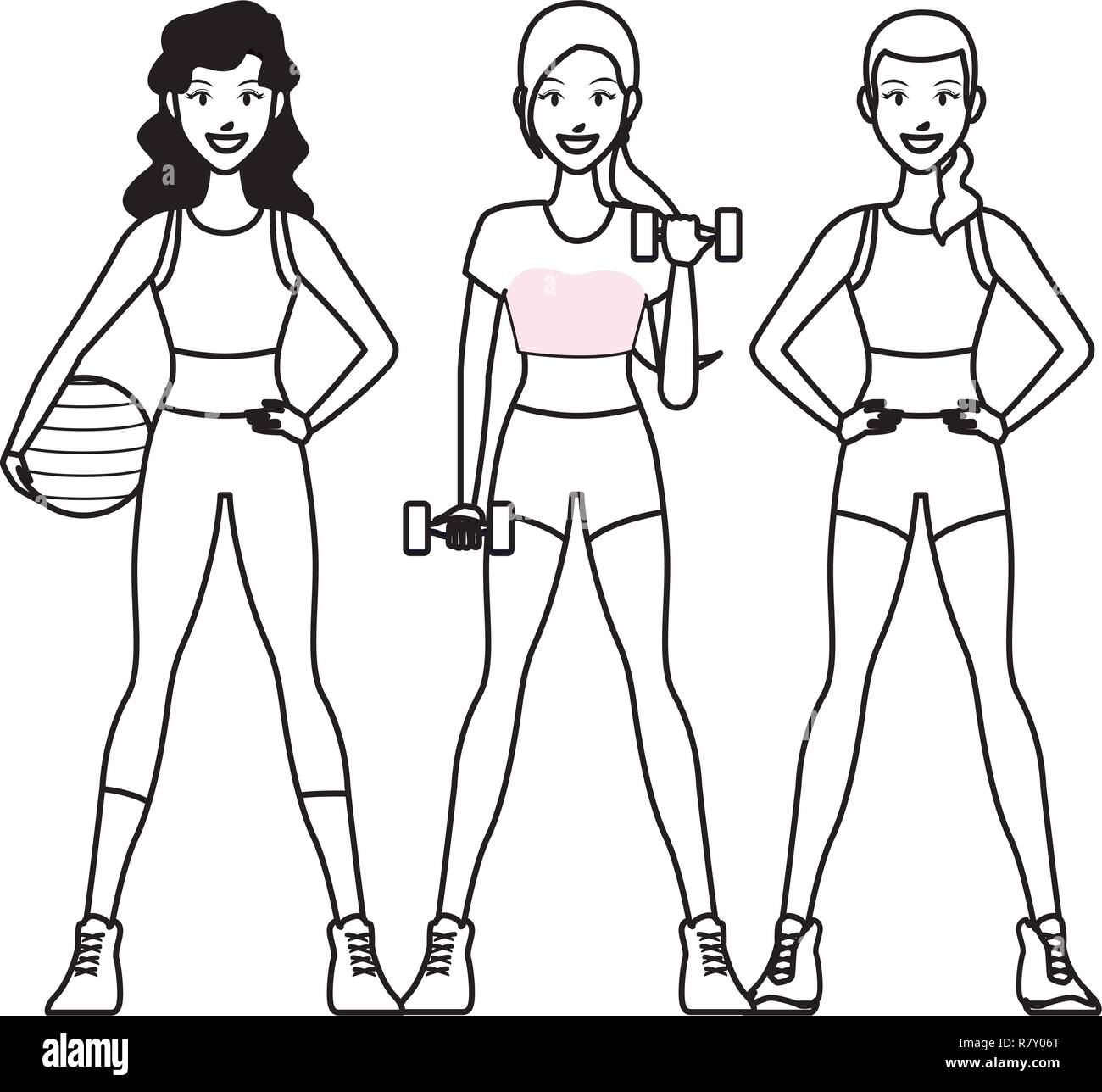 Fit Women Doing Exercise Stock Vector Image Art Alamy This site is a community effort to recognize the hard work of female athletes, fitness models, and bodybuilders. alamy