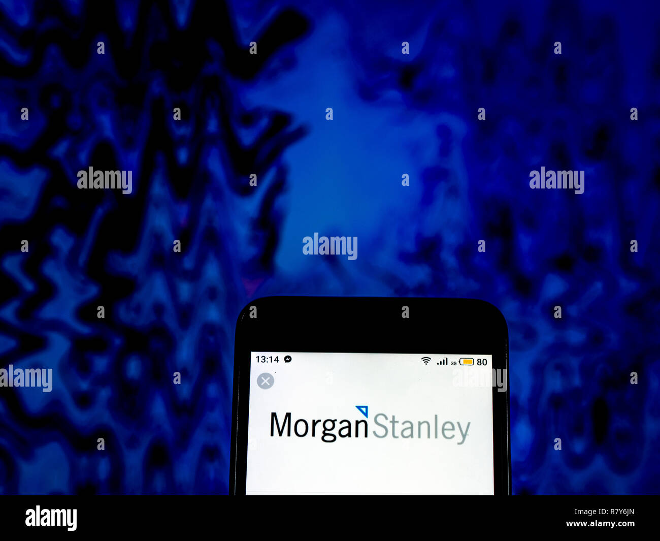 Morgan Stanley Investment banking company logo seen displayed on