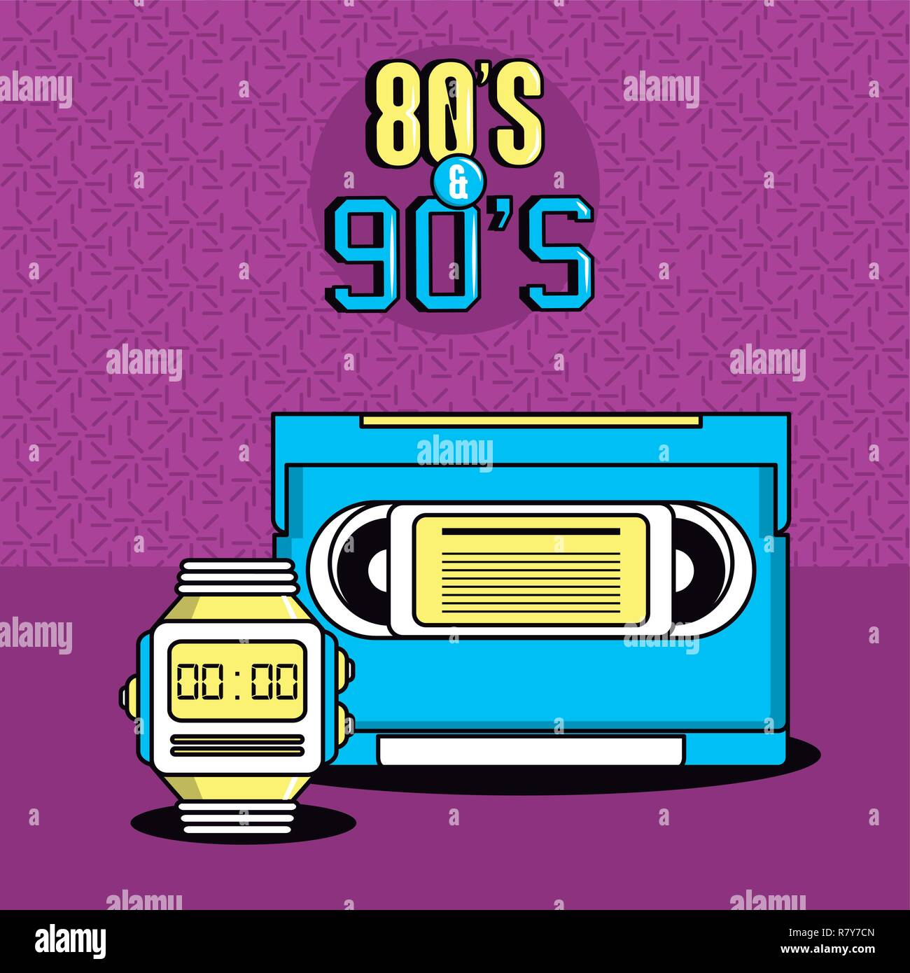 eighties and nineties style - Stock Vector