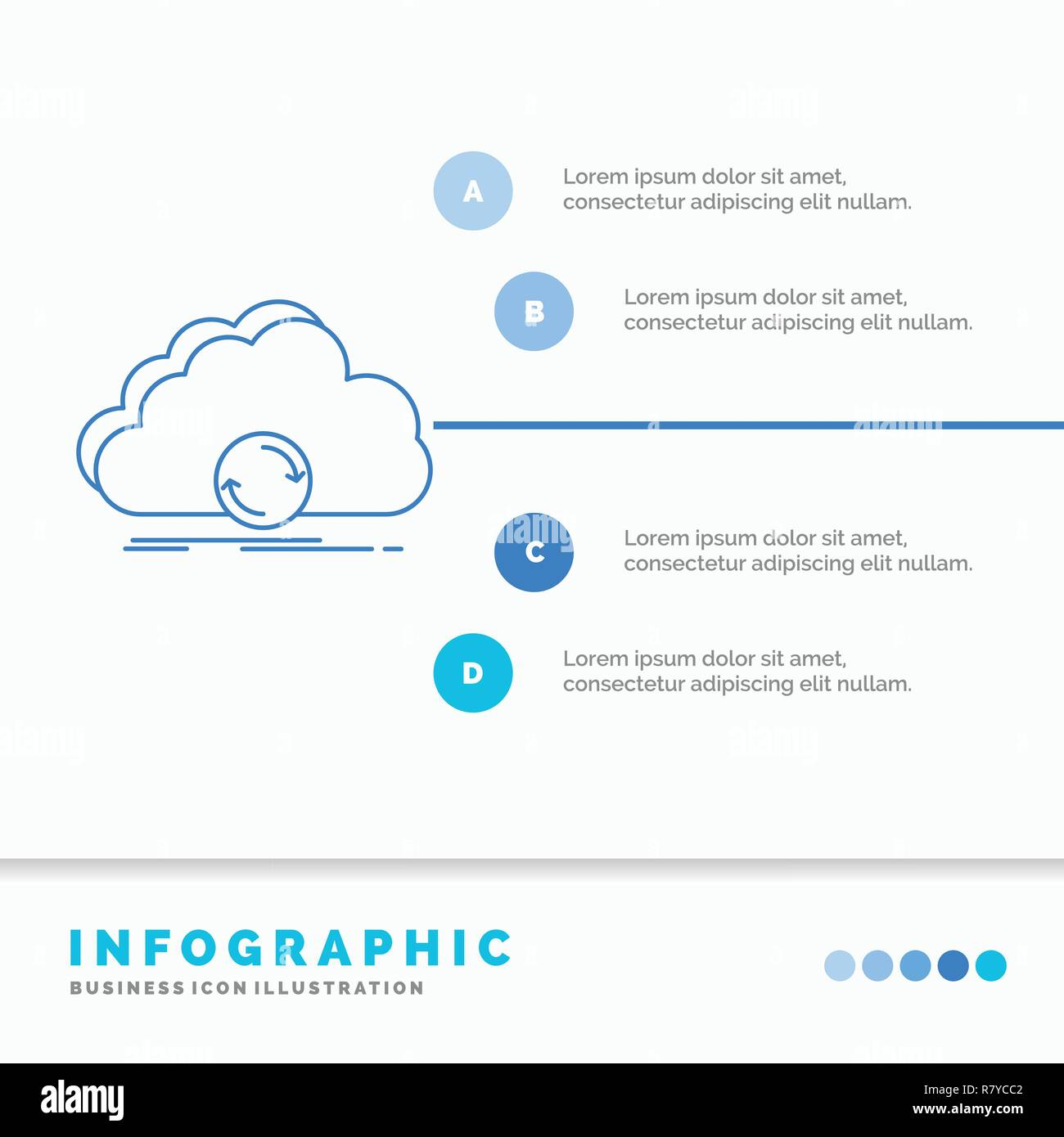cloud, syncing, sync, data, synchronization Infographics Template