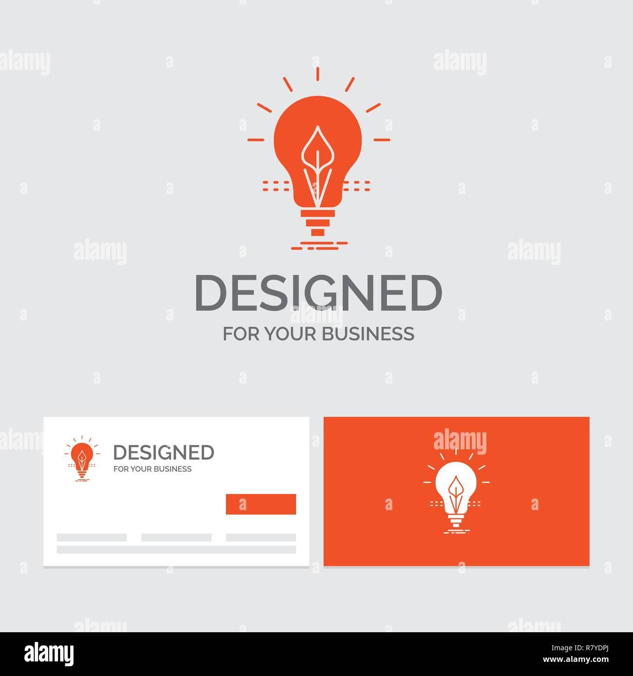 Business Logo Template For Bulb Idea Electricity Energy